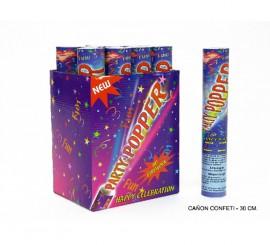 Cañón o Tubo de Confeti de 30 cm. para Bodas y Celebraciones