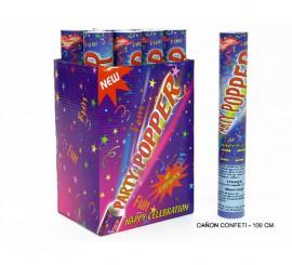 Cañón o Tubo de Confeti de 100 cm.para Bodas y Celebraciones