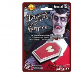 Colmillos de Vampiro medianos con pasta termoplástica