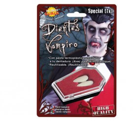 Colmillos de Vampiro grandes con pasta termoplástica