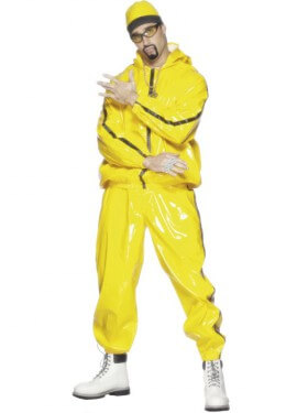 Disfraz de Rapero Amarillo o de Ali G para hombre