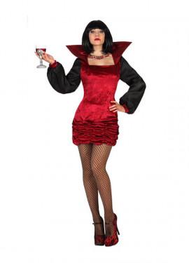 Disfraz para mujer de Vampiresa con cuello