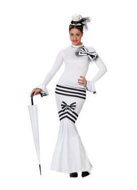 Disfraz de Dama Inglesa blanco para mujer