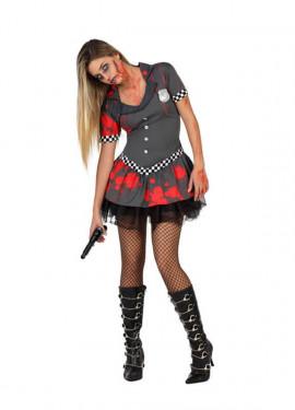 Déguisement de Policier Zombie Sexy pour femme plusieurs tailles