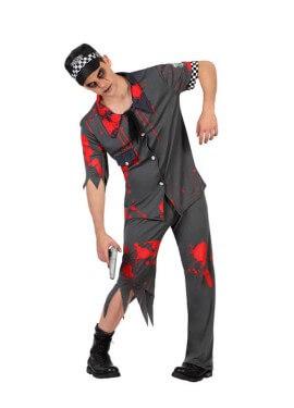 Disfraz de Policía Zombie Sangriento para hombre
