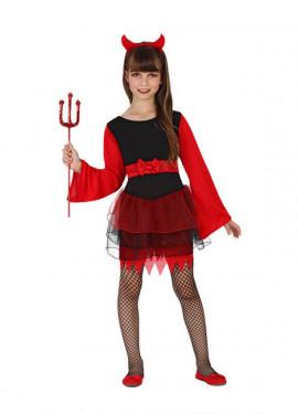 Disfraz para Halloween de Demonia para niñas