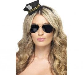 Mini Sombrero de Policía con Insignia