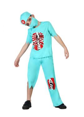 Disfraz de Doctor Zombie sangriento para niños