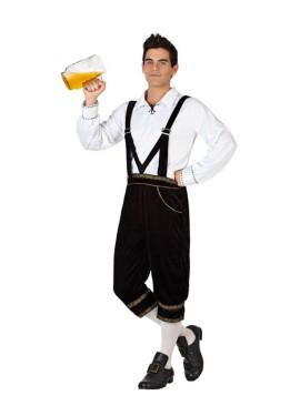 Déguisement traditionnel allemand noir pour homme plusieurs tailles