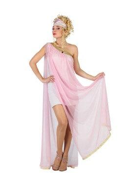 Déguisement Déesse Grecque avec tulle rose Femme plusieurs tailles