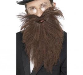 Barba larga y Bigote color Marrón