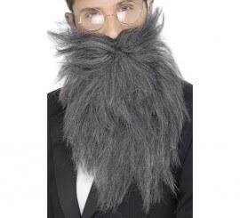 Barba larga y Bigote color Gris