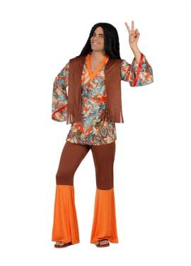 Disfraz de Hombre Hippie Estampado para hombre