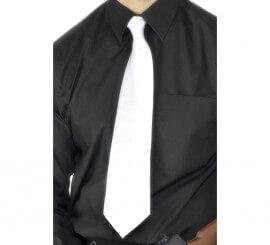 Corbata Gánster Deluxe color Blanco