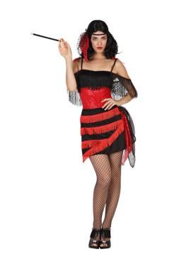 Déguisement de Cabaret - Saloon rouge pour Femme plusieurs tailles