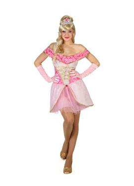 Déguisement Princesse Belle Rose pour Femme plusieurs tailles