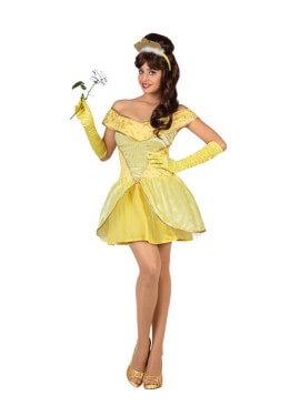 Disfraz de Princesa Bella amarilla para mujer