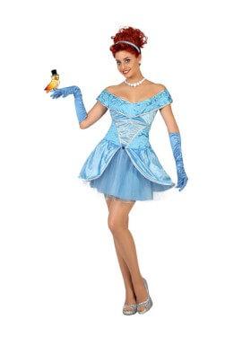 Disfraz de Princesa Bella azul para mujer