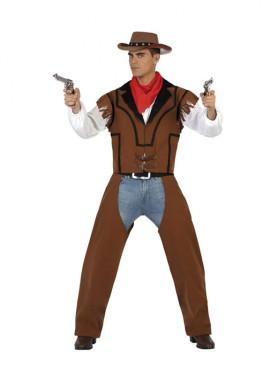 Disfraz de Vaquero marrón para hombres