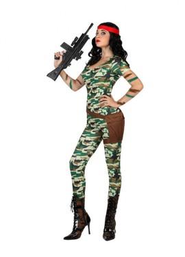Disfraz para mujer de Militar sexy