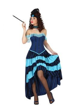 Déguisement Cabaret - Saloon bleue Femme plusieurs tailles
