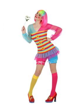 Disfraz de Payasa Alegre para mujer