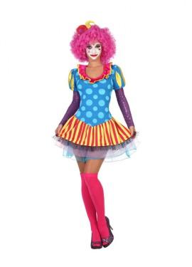 Disfraz de Payasa Colores con tul para mujer