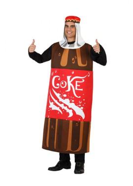 Disfraz de Botella de Cola para Adultos