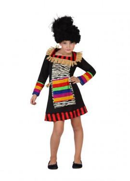 Disfraz de Zulú para niñas