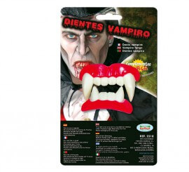 Dientes o Dentadura de Vampiro para Halloween