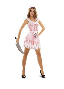 Disfraz de Criada Loca talla M-L mujer Halloween