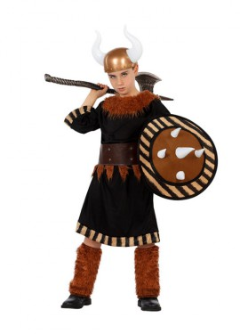 Disfraz para niños de Vikingo con escudo