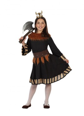 Disfraz para niñas de Vikinga