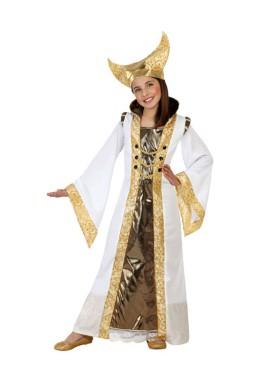 Disfraz de Reina Bella blanco para niñas