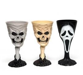 Copa Calavera para Halloween 3 surtidas. Precio por unidad.