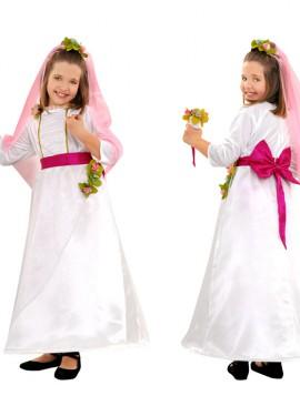 Disfraz de Novia para niñas de 5 a 6 años