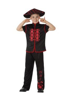 Disfraz de Chino negro para niños