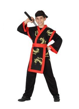 Déguisement Samouraï Dragon Rouge et Noir enfants plusieurs tailles
