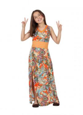 Disfraz para niñas de Hippie Estampada