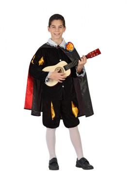 Disfraz de Tuno negro para niños