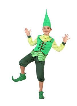 Disfraz de Duende Verde Irlandés para niño