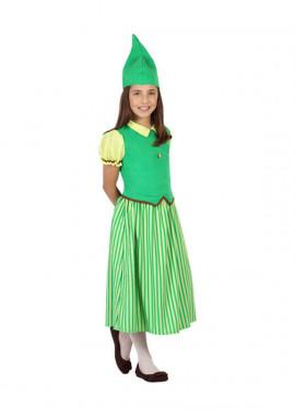 Disfraz de Duende verde Irlandesa para niña