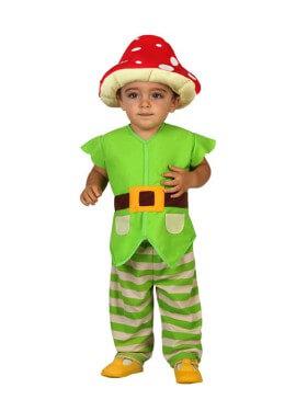 Disfraz de Duende con seta para bebés