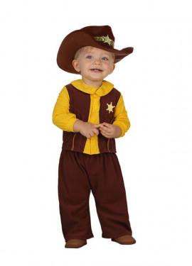 Déguisement Garçon Cowboy Marron pour bébés plusieurs tailles