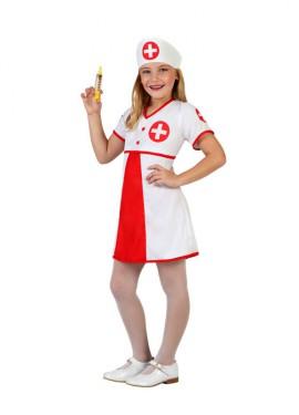 Disfraz de Enfermera con cruz para niñas