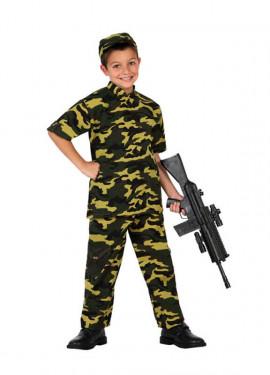 Disfraz para niños de Soldado Camuflaje