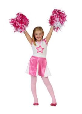 Disfraz de Animadora rosa para niñas