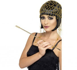 Boquilla para Cigarrillos color Oro Extensible para Mujer