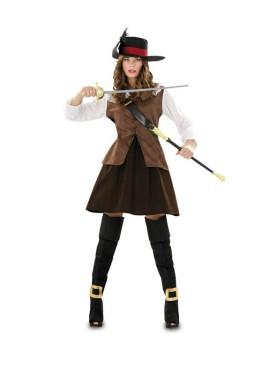Disfraz de Juliette marrón para mujer talla M-L