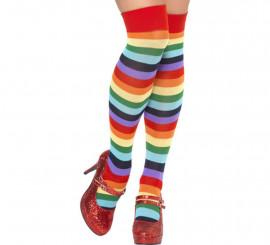 Bas ou Longues Chaussettes de Clown Multicolores